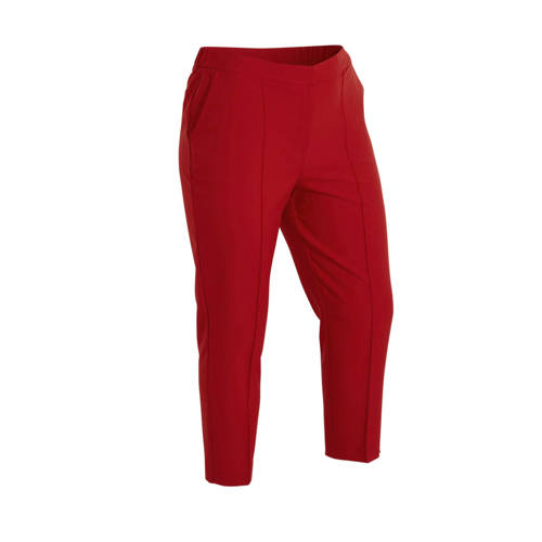 Simply Be Capsule tapered fit broek rood