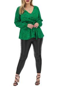 Simply Be top met all over print groen/zwart, Groen/zwart