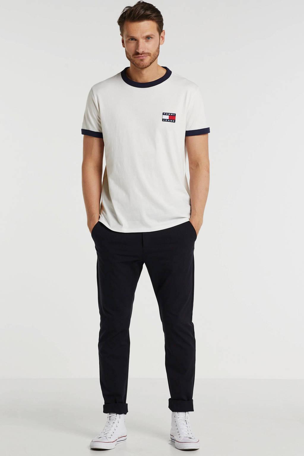 Tommy Jeans T-shirt met logo wit, Wit