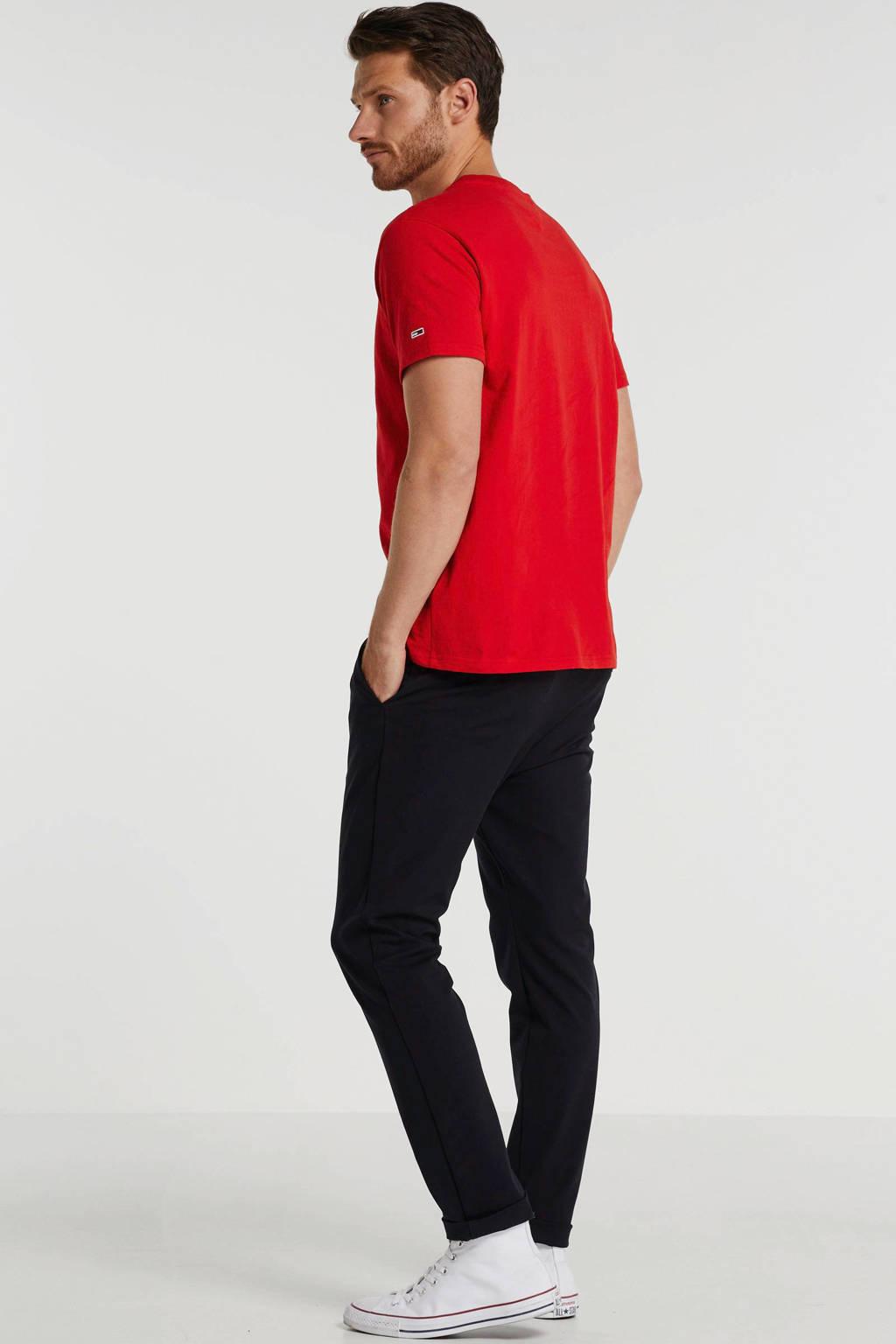 Tommy Jeans T-shirt met printopdruk rood, Rood