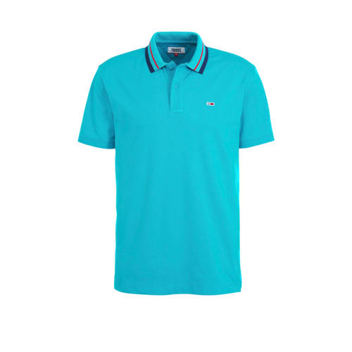 Tommy Jeans regular fit polo turquoise
