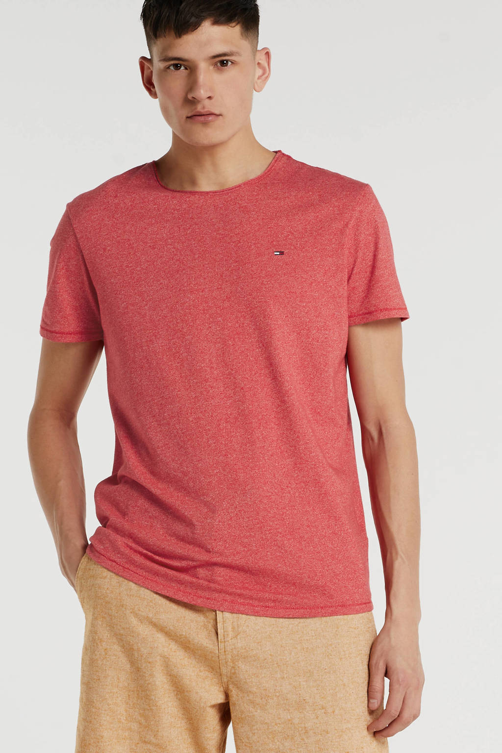 Tommy Jeans T-shirt met logo rood, Rood