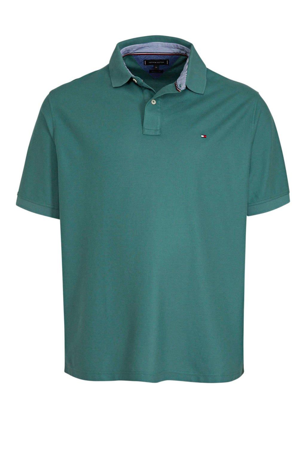 Tommy Hilfiger Big & Tall +size regular fit polo groen, Groen
