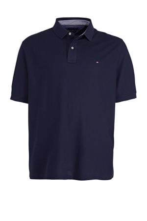 +size regular fit polo donkerblauw