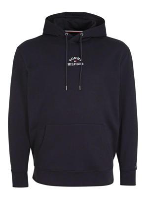 +size trui met logo donkerblauw