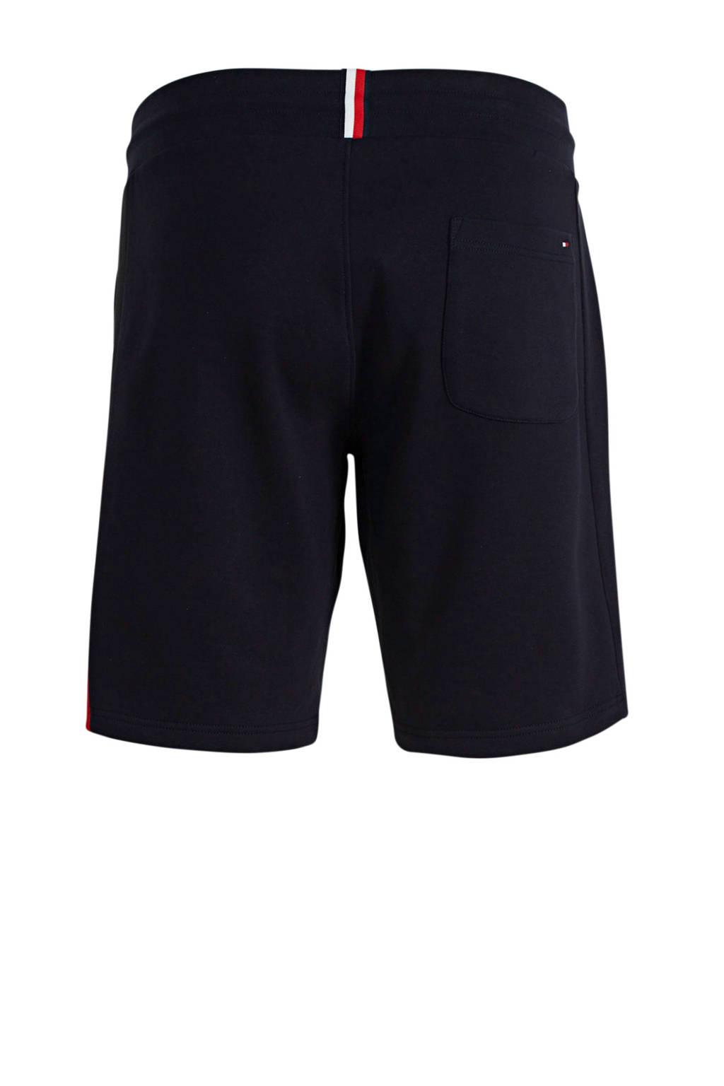 Tommy Hilfiger Big & Tall +size regular fit sweatshort met zijstreep donkerblauw, Donkerblauw