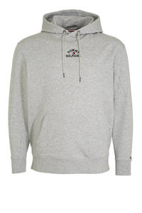 Tommy Hilfiger Big & Tall +size trui met logo grijs, Grijs