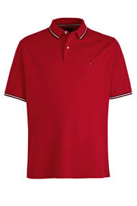 Tommy Hilfiger Big & Tall +size regular fit polo rood, Rood