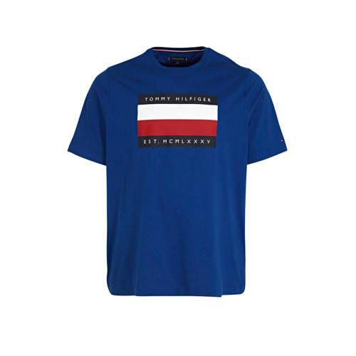 Tommy Hilfiger Big & Tall +size T-shirt met lo