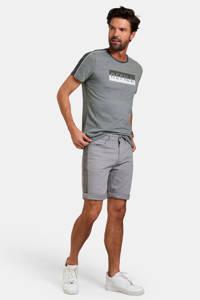 Refill slim fit jeans short lichtgrijs, Lichtgrijs