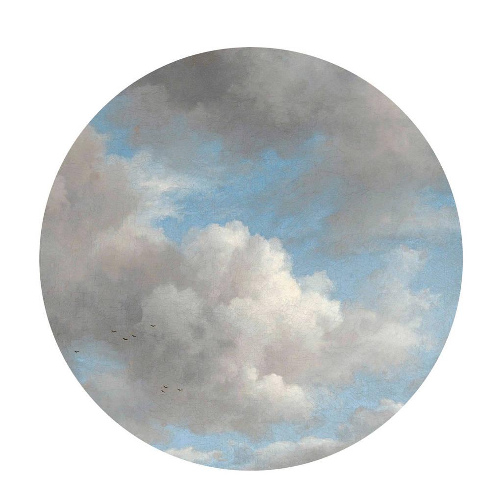 KEK Amsterdam behangcirkel Golden Age Clouds (ø190 cm), blauw/ wit