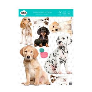 muurstickers Puppies (set van 4)
