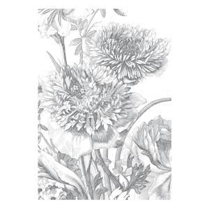fotobehang Engraved Flowers (194.8x280 cm)  (194.8x280 cm cm)