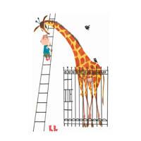 KEK Amsterdam behangpaneel Giant Giraffe (142.5x180 cm), Wit