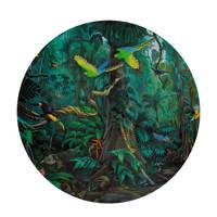 KEK Amsterdam behangcirkel Tropical Landscape (ø190 cm)  ( cm), Groen