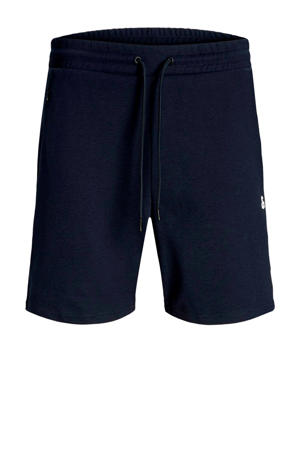 sweatshort Clean donkerblauw/wit