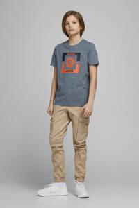 JACK & JONES JUNIOR T-shirt Strong met printopdruk grijsblauw, Grijsblauw