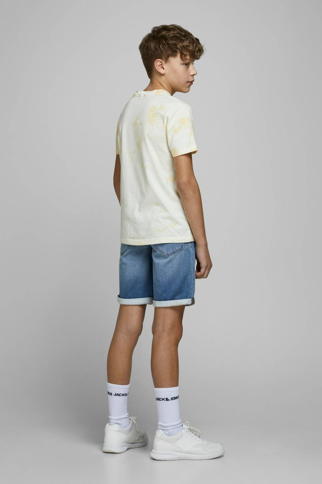 JACK & JONES JUNIOR regular fit jeans bermuda Rick blue denim, Blue denim