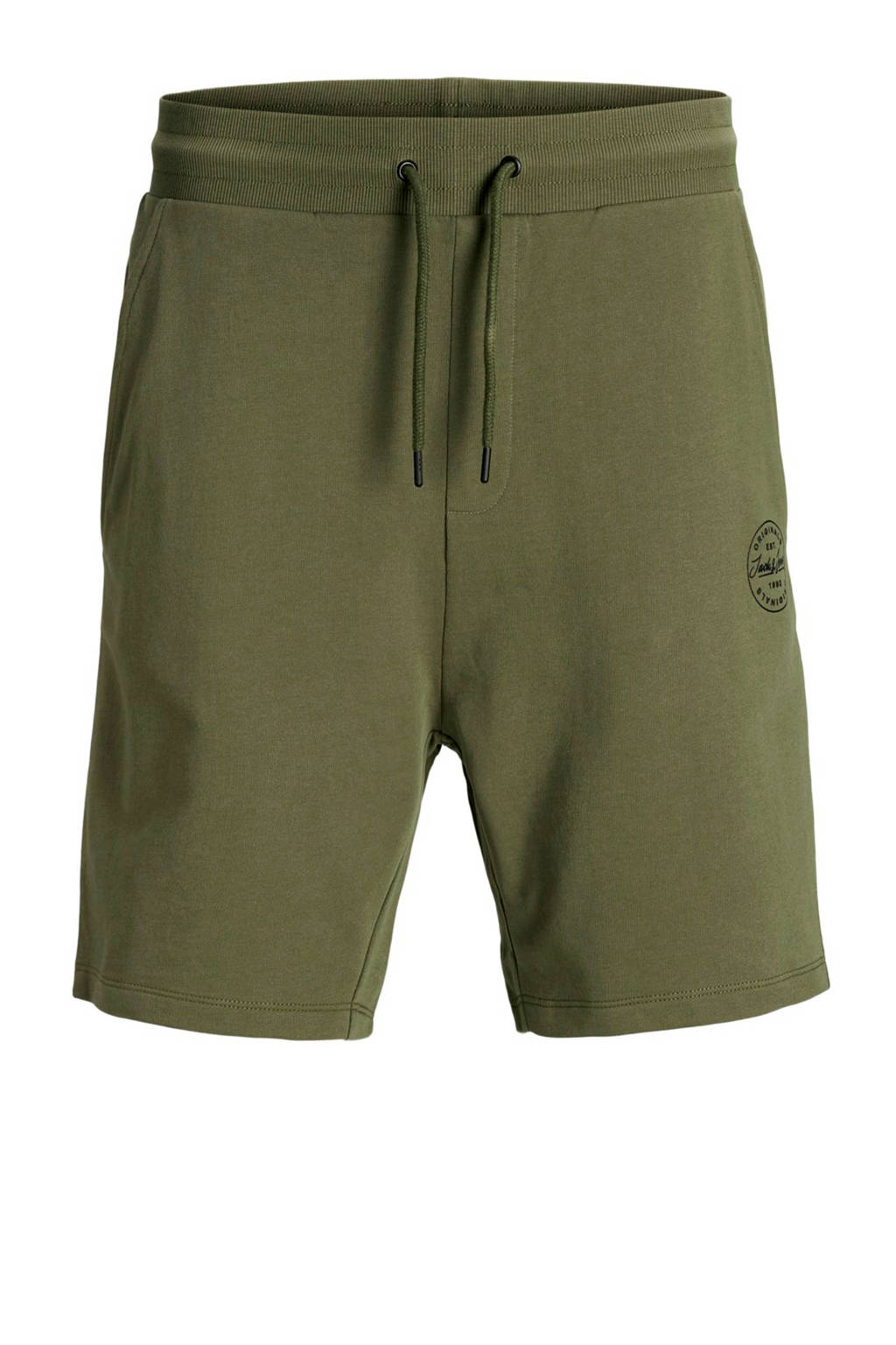 JACK & JONES JUNIOR sweatshort Shark met logo groen, Groen