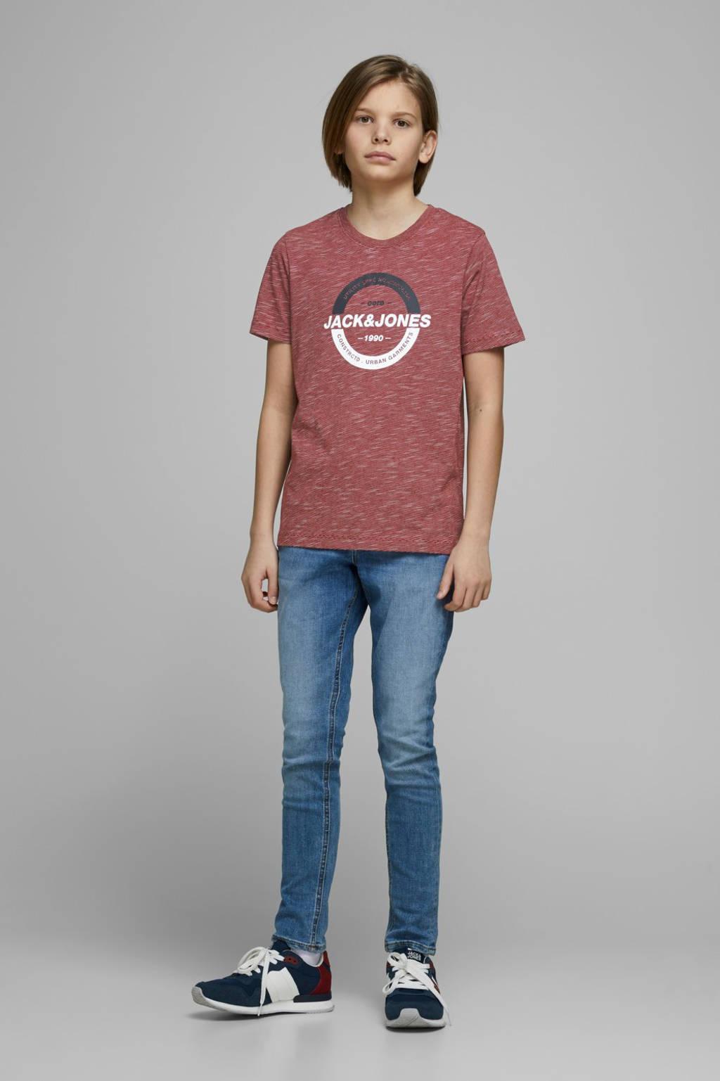 JACK & JONES JUNIOR T-shirt Strong met printopdruk rood, Rood