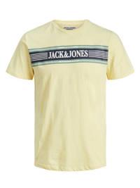JACK & JONES JUNIOR T-shirt Anthony met printopdruk lichtgeel, Lichtgeel
