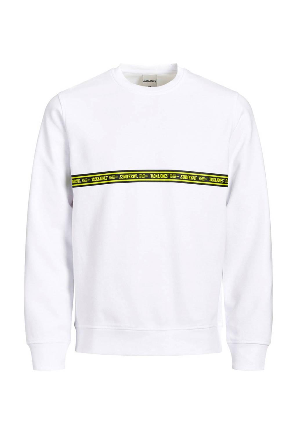 JACK & JONES JUNIOR sweater Toffee met printopdruk wit, Wit