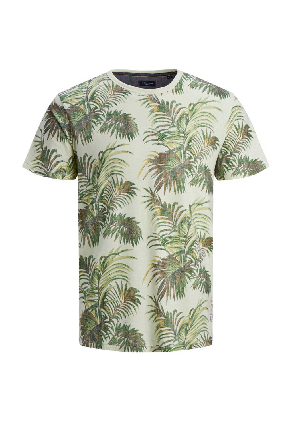 JACK & JONES JUNIOR T-shirt Max met all over print lichtgroen, Lichtgroen