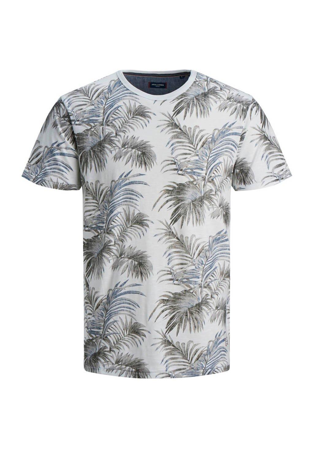 JACK & JONES JUNIOR T-shirt Max met all over print antraciet/blauw, Antraciet/blauw