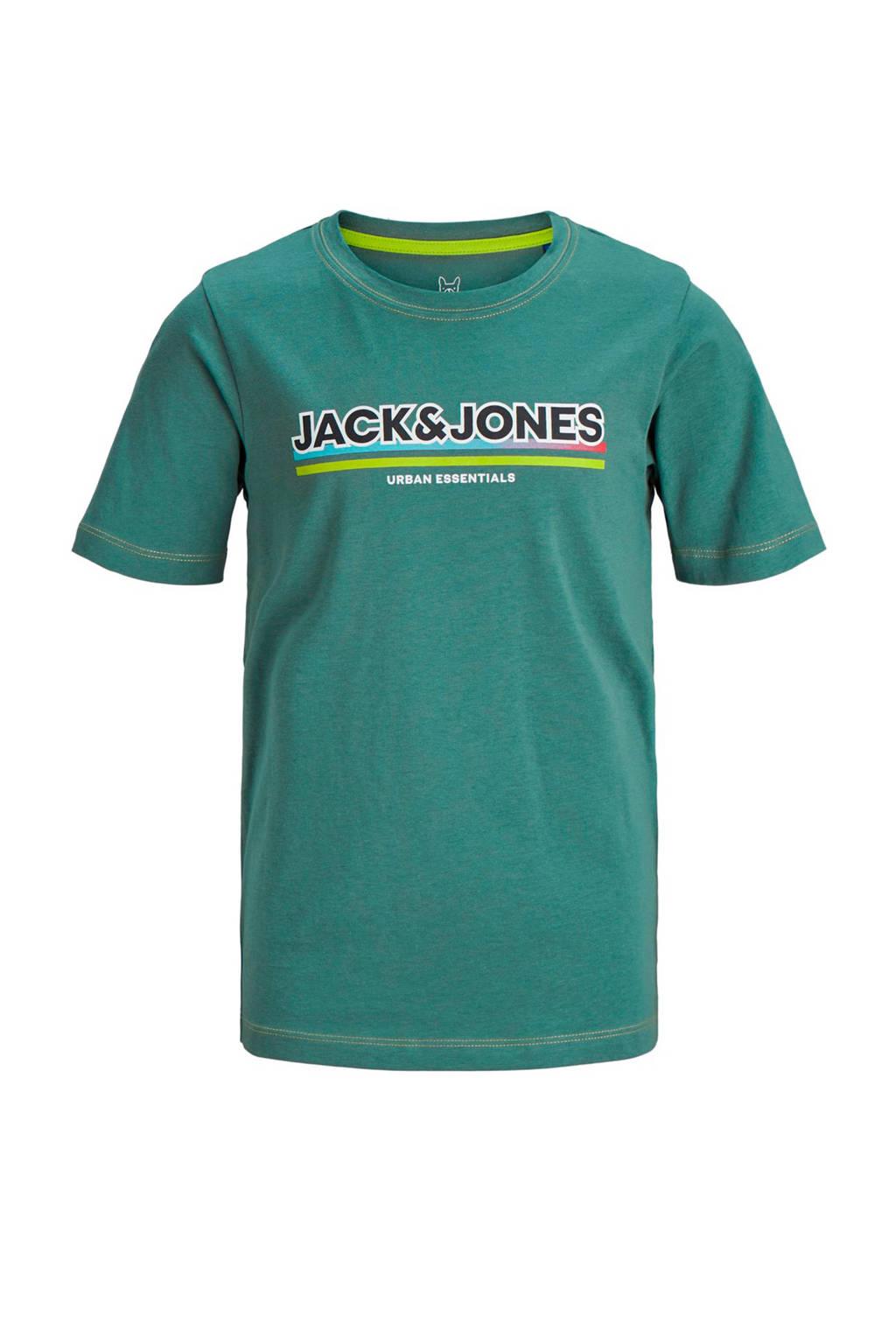 JACK & JONES JUNIOR T-shirt Shade met printopdruk groen, Groen