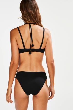 bikinibroekje Scallop Glam met schulprand zwart