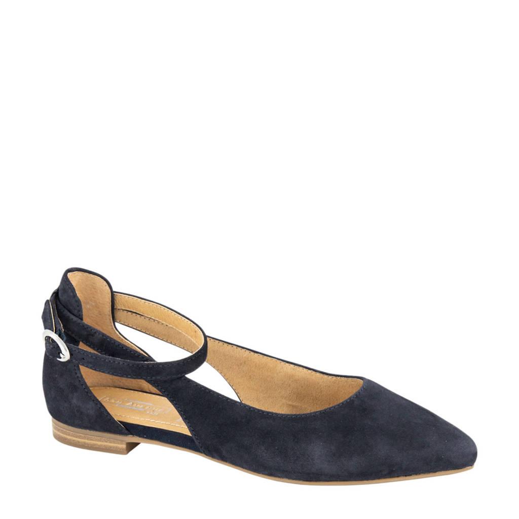 5th Avenue   suède ballerina's donkerblauw, Donkerblauw
