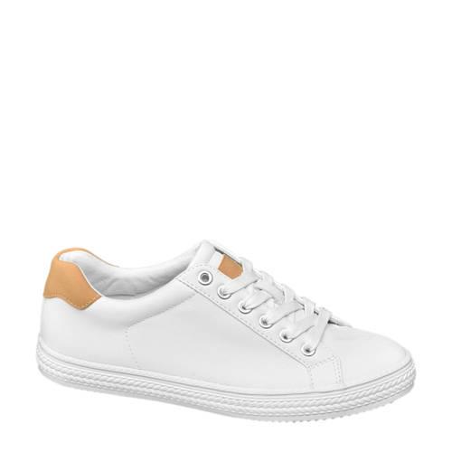 Graceland sneakers wit/bruin