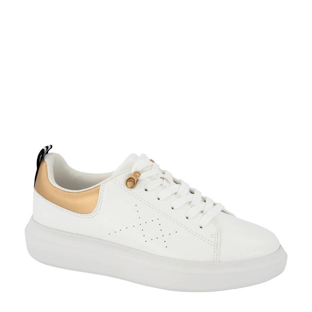 Graceland   plateau sneakers wit/goud, Wit/goud