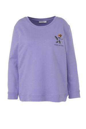 sweater met printopdruk lila
