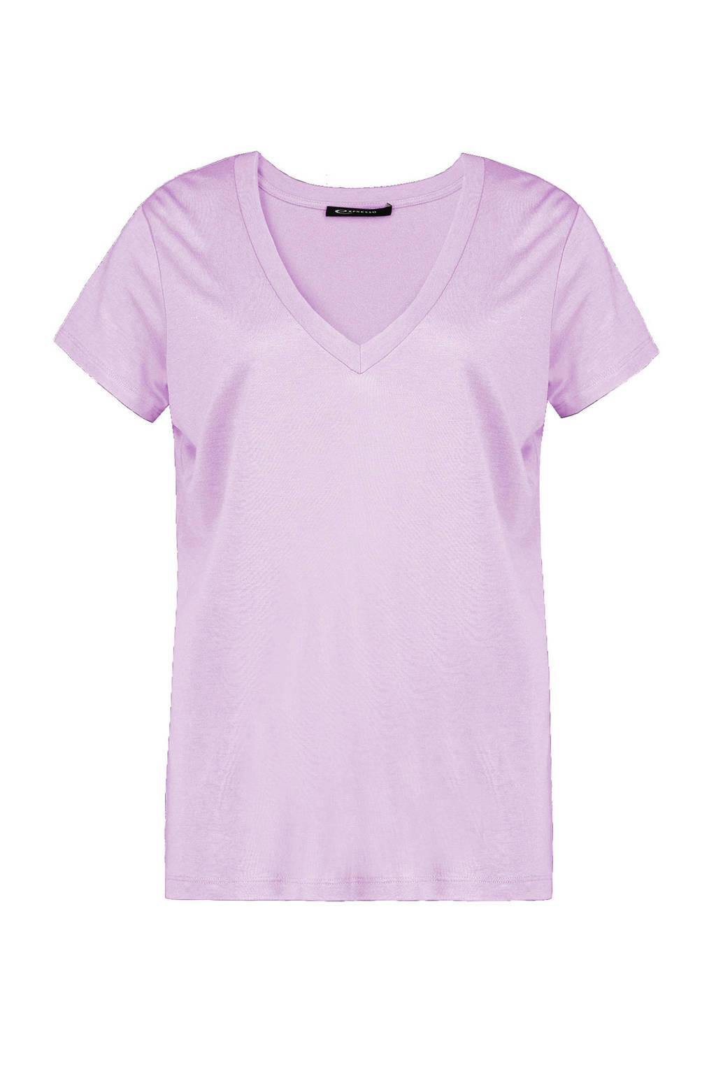 Expresso T-shirt lila, Lila