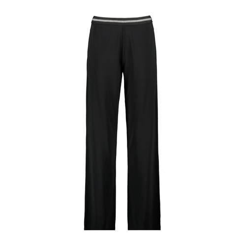 Expresso high waist straight fit pantalon zwart