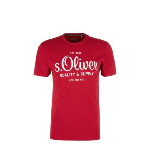 s.Oliver T-shirt met logo rood