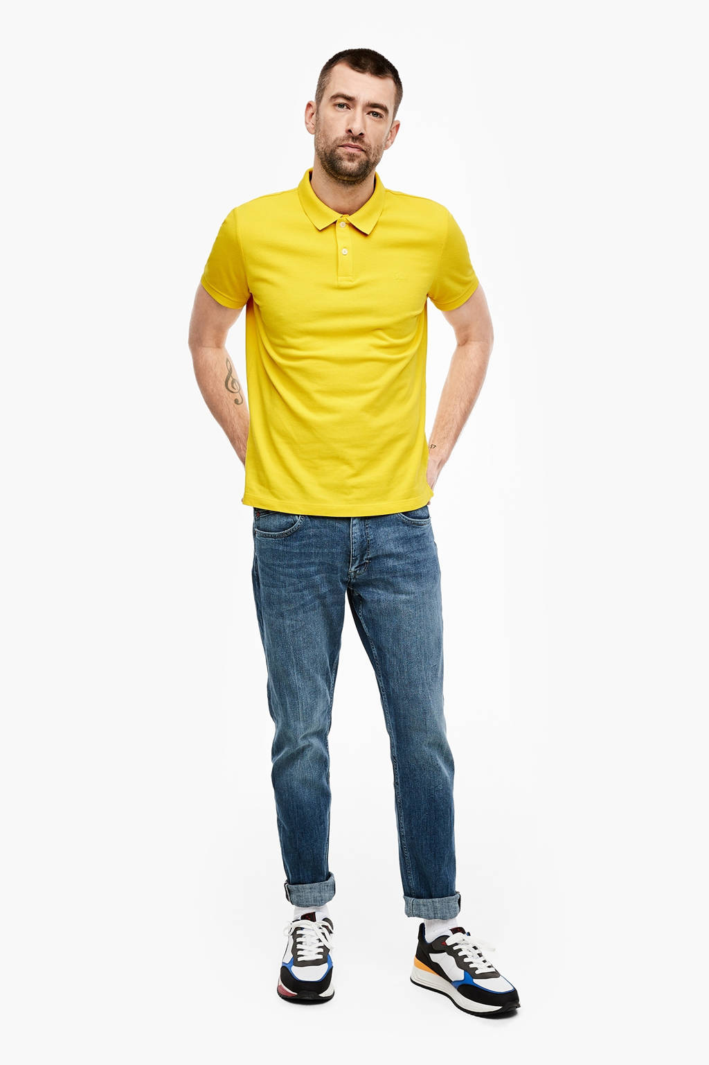 s.Oliver regular fit polo geel, Geel