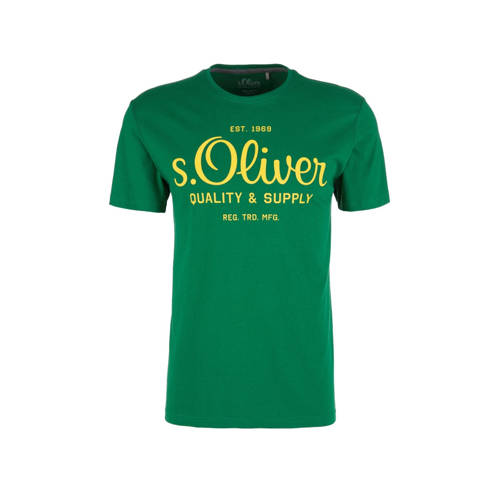 s.Oliver T-shirt met logo groen