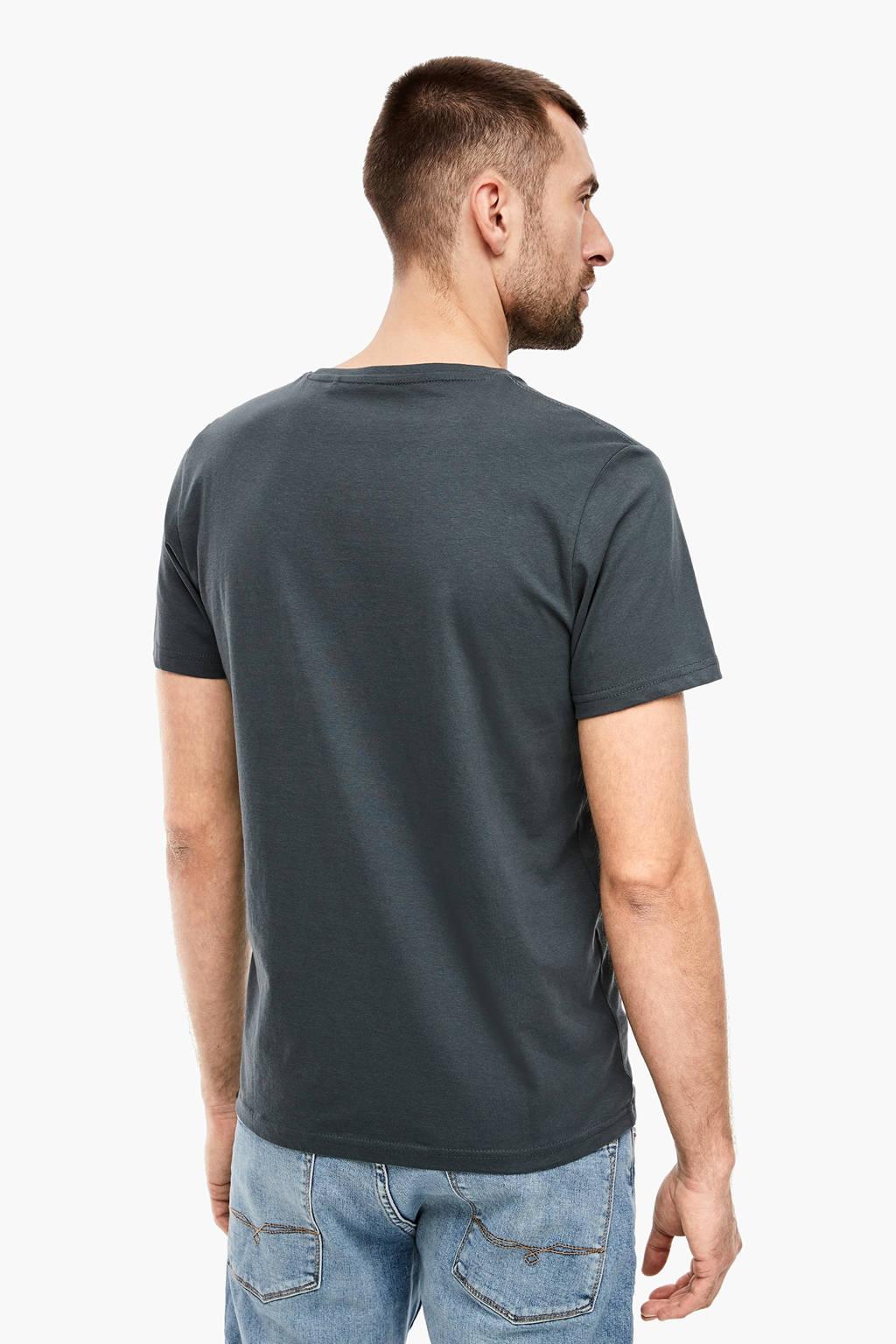 s.Oliver T-shirt met logo antraciet, Antraciet