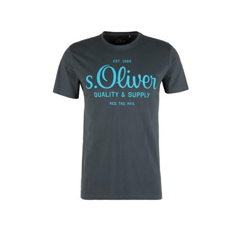 s.Oliver T-shirt met logo antraciet