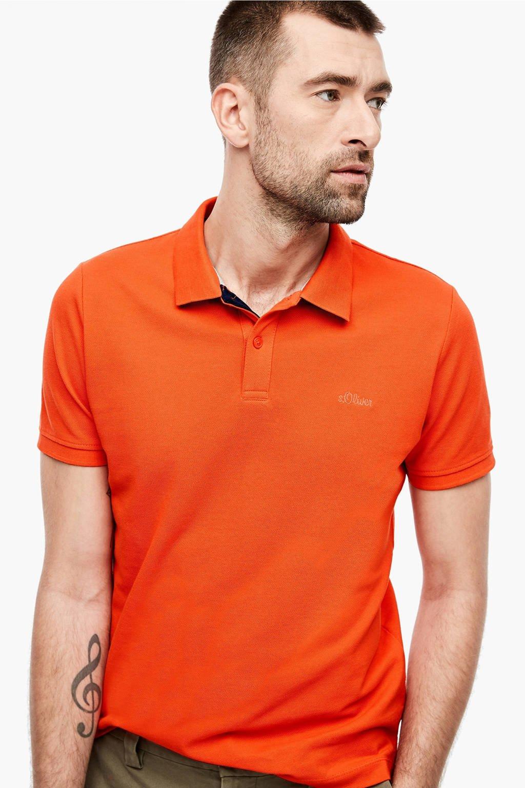 s.Oliver slim fit polo oranje, Oranje