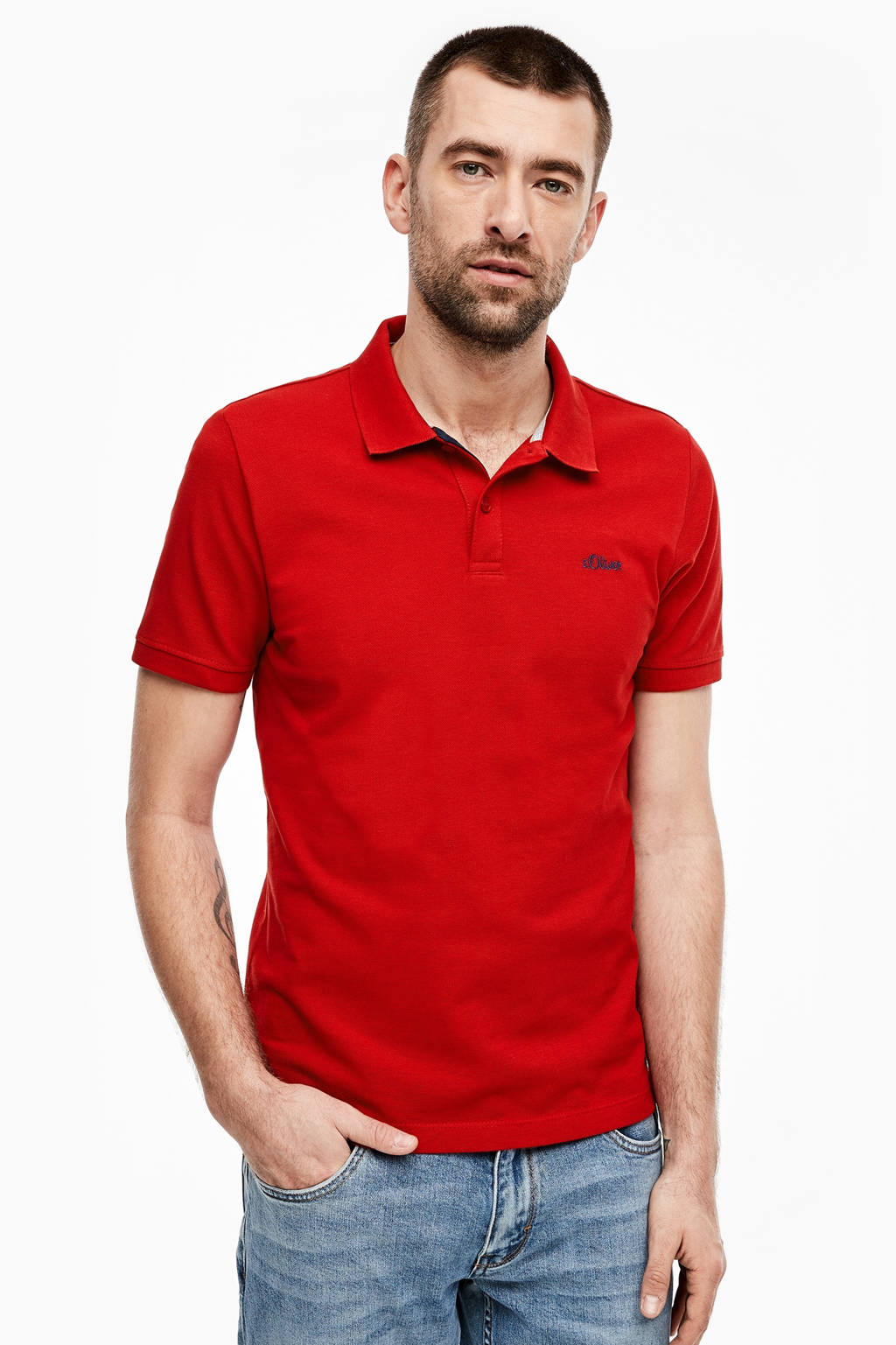 s.Oliver slim fit polo rood, Rood