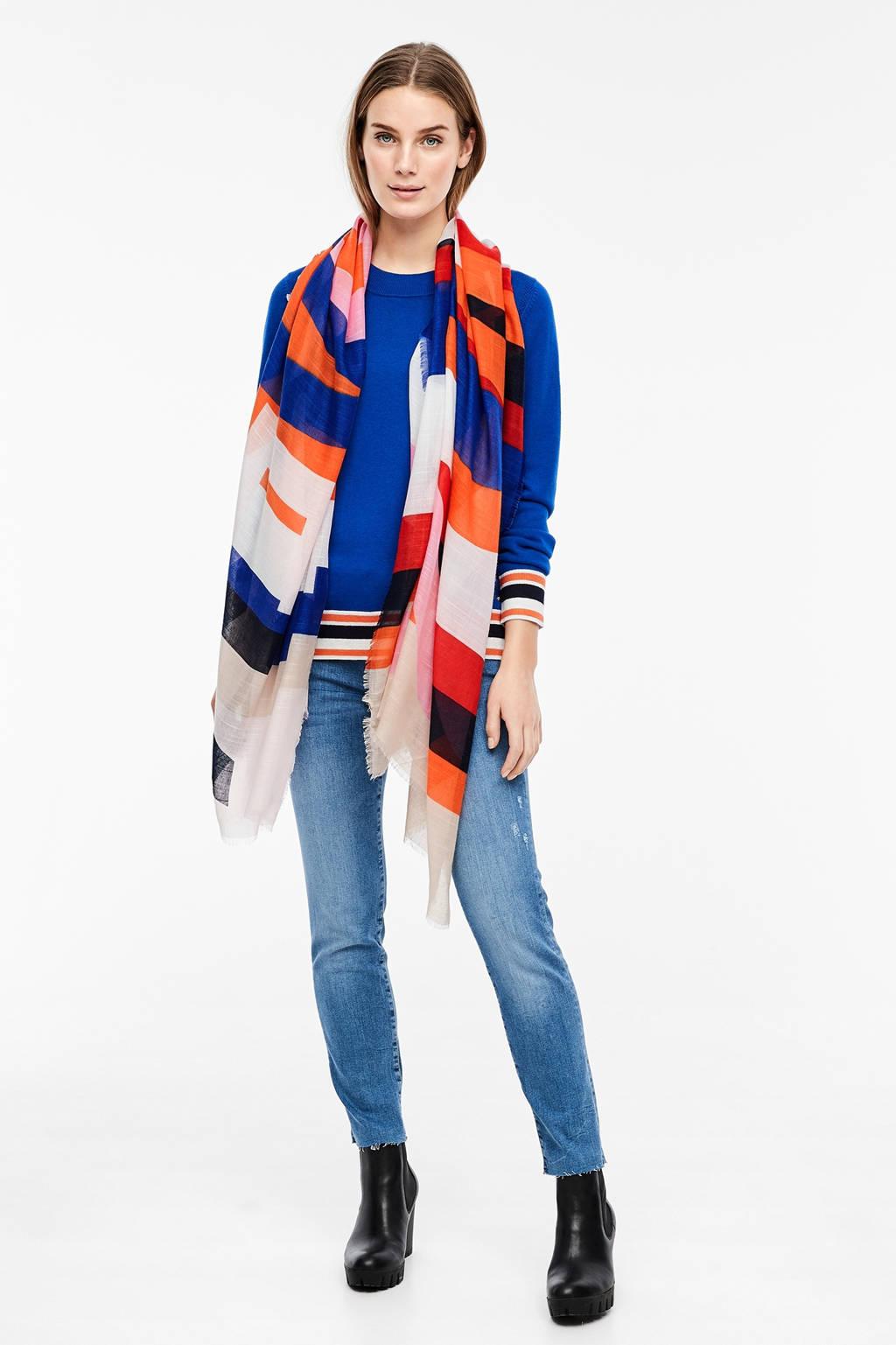 s.Oliver sjaal oranje, Oranje/blauw/rood