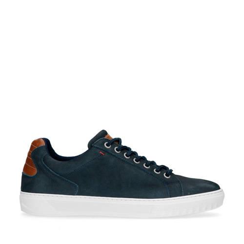 Sacha leren sneakers donkerblauw