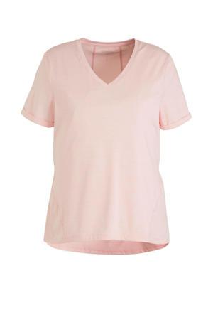 Plus Size sport T-shirt roze