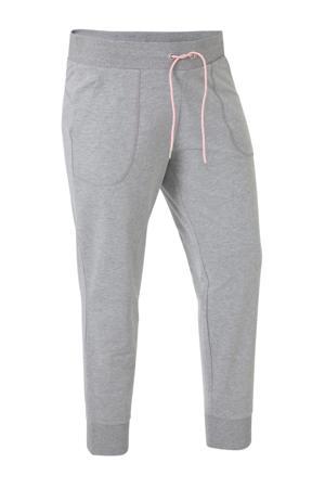 Plus Size sportbroek grijs melange