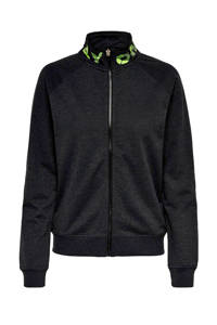 ONLY PLAY sportvest antraciet/limegroen, Antraciet/limegroen