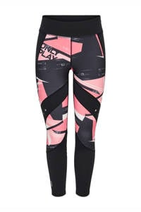 ONLY PLAY sportbroek 7/8 zwart/roze, Zwart/roze
