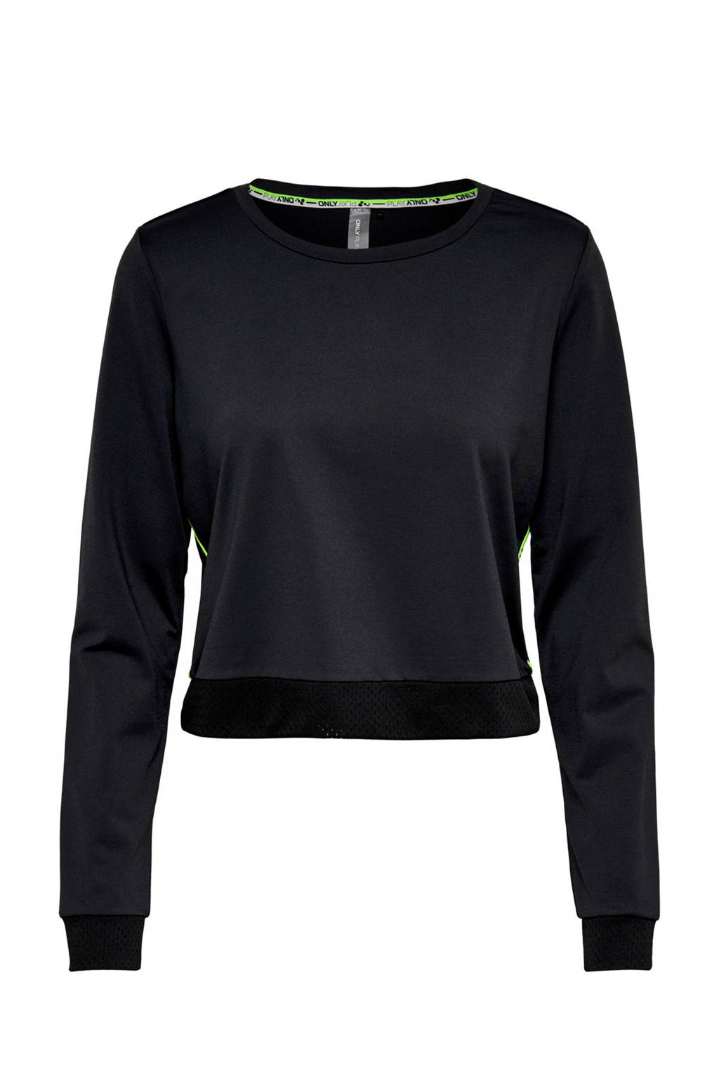 ONLY PLAY cropped sportsweater zwart, Zwart